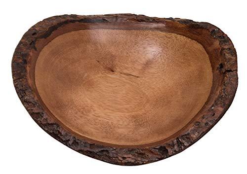 ROMBOL Dekorative Schale aus Mangoholz, oval, rund, mittel