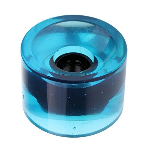 MagiDeal Skateboard Rollen Wheels 70 mm x 51 mm - klar Blau