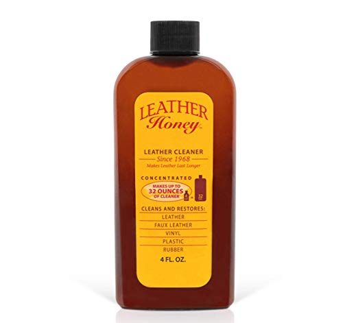 Leather Cleaner by Leather Honey: The Best Leather Cleaner for Vinyl and Leather Apparel Furniture Auto Interior Shoes and Accessories Concentrated Formula Makes 32 Ounces When Diluted