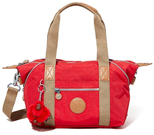 Kipling Art Mini, Sac à Main Femme, Rouge (True Red C), 34x21x18,5 cm (BxHxT)
