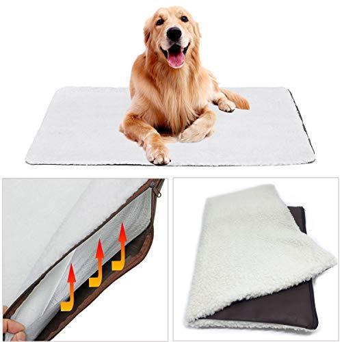ExcLent Große Selbstheizende Hundebett Fleece Matte Weiche Warme Haustier Katze Teppich Thermisch Waschbar Pad - L