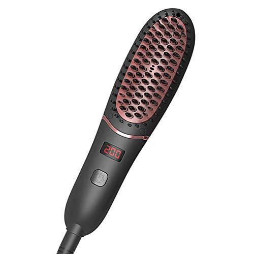 ANKIKI LED ION négatif Peigne Chauffant Cheveux raides électrique Réduire Les frisottis et la Statique Anti-brûlure Outil de Coiffeur pour Tous Types de Cheveux