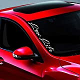 Noizy Graphics 20' Low Life #1 Lowered JDM Side Windshield Banner Car Sticker Truck Vinyl Decal Color: Blue