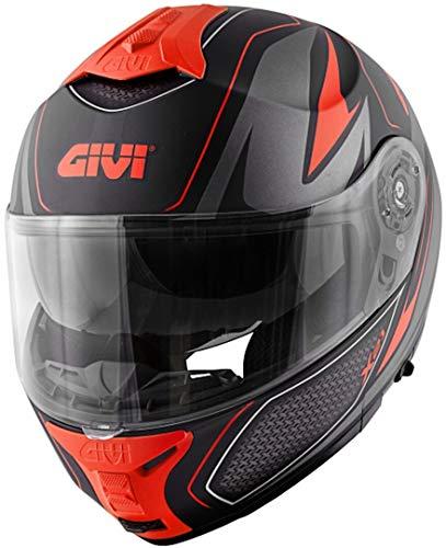 Casco Uomo X21 Challenger Moto Givi Helmet Apribile Taglia L HX21FSHBR60