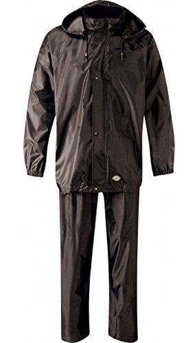 Dickies Vermont Regenset Hose und Jacke, S, schwarz, WP10050