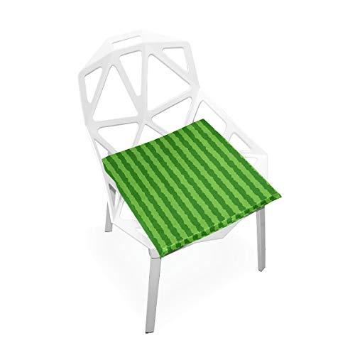 Cojín de espuma viscoelástica para sillas de cocina, suave, lavable, antipolvo, silla de comedor, almohadilla de 40,6 x 40,6 cm (sandía) 2030042