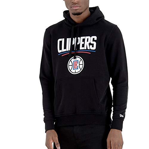 New Era Los Angeles Clippers - Felpa con Cappuccio, da Uomo, Taglia S, Colore: Nero