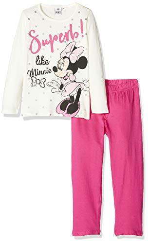 Disney Mädchen HS2090 Zweiteiliger Schlafanzug, Weiß (Off-White Owhite), 4 Jahre