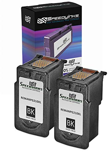 Speedy Inks Remanufactured Ink Cartridge Replacement for Canon PG210XL High-Yield (Black, 2-Pack)