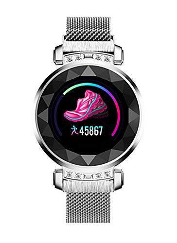 Reloj inteligente, pantalla TFT de 1,04 pulgadas, interfaz USB 2.0, de moda y hermosa, detección de salud, modo multideporte, análisis del sueño para todos (color: plata)