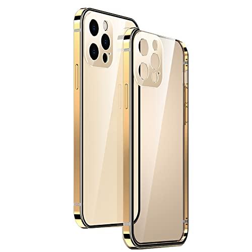HOLSKEAT Funda iPhone 13 iPhone 13 Pro Carcasa TPU Case Cover de Protección Antideslizante Anti-Rasguño Anti-Golpes Caso Transparente,Oro,13