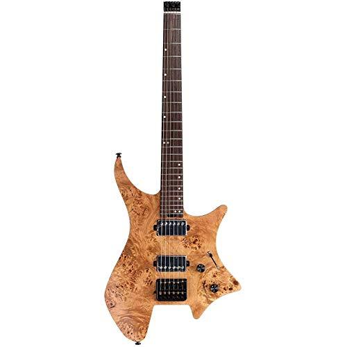 EART Headless E-Gitarre Fix Bridge für 6-saitige Reisegitarre Kleine, aber vollwertige LEAF-Gitarre Ultraleicht für Reisen und Performance Richtige Solid-Body-Gitarre