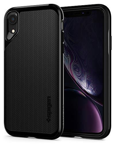 【Spigen】iPhoneXRケース6.1インチバンパー二重構造米軍MIL規格取得耐衝撃カメラ保護Qi充電ワイヤレス充電ネオ・ハイブリッド064CS24879(ジェット・ブラック)