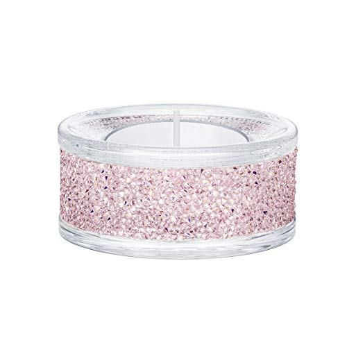 Swarovski Shimmer Tea Light Holders, Pink