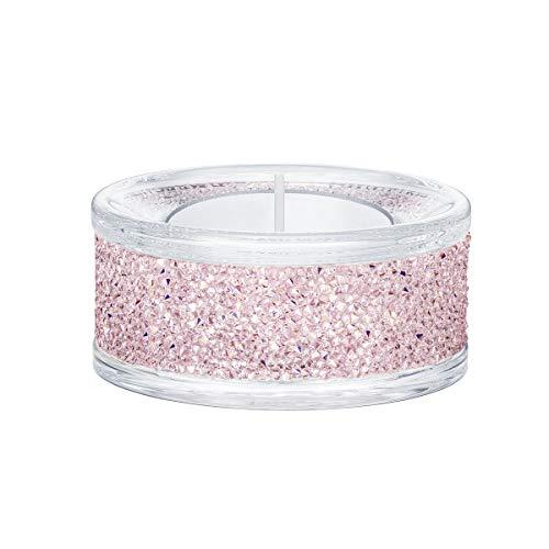 Swarovski Shimmer Tea Light Holders, Pink