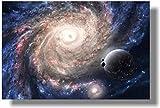 CAPTIVATE HEART Lienzo Arte de Pared 40x60cm sin Marco Espiral Galaxy Planeta Espacio Nebulosa Estrellas Constelación Cartel Decorativo Inspirador Impresión Arte de Pared para Vivir Rom1