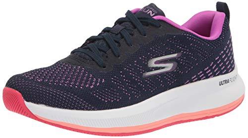Skechers womens Go Run Pulse - Ultimate Best Sneaker, Navy/Purple, 8.5 US