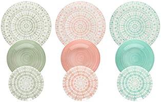 Tognana ME070185598 Gipsy Soft - Servicio de mesa de Porcelana, 18 Piezas
