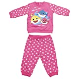 CERDÁ LIFE'S LITTLE MOMENTS 2200006328_T12M-C70 Chandal Baby Shark Infantil de Color Rosa, 12 Meses Unisex niños