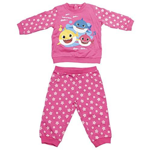 CERDÁ LIFE'S LITTLE MOMENTS 2200006328_T24M-C70 Chandal Baby Shark Infantil de Color Rosa, 24 Meses Unisex niños