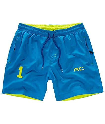 Rock Creek Herren Badeshorts Badehose Schwimmhose Schwimmshort Shorts Sommershorts Strandshorts Sportshorts Bermudas H-176 Blau XL