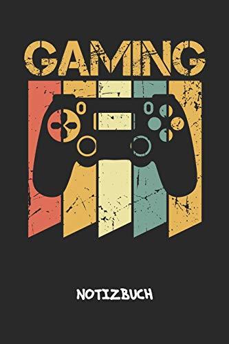 Gaming: NOTIZBUCH A5 Liniert Retro Gamer Schreibblock - Notizblock 120 Seiten 6x9 inch Tagebuch für Erwachsene - Vintage Gaming Notizheft Retro Controller Nerds Geschenk