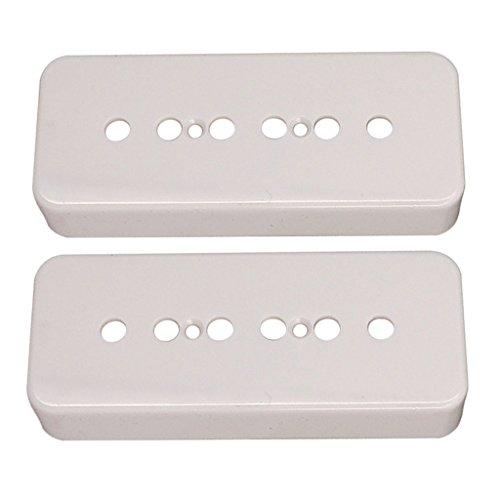 H HILABEE P90 Soapbar Pickup Covers Single Coil 4 Farben Für Gibson Les Paul Gitarren - Weiß
