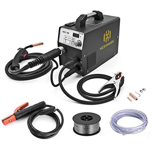HZXVOGEN 220V DC MIG Welder 180A Gas Gasless Arc Lift Tig Mig MAG MMA Stick Inverter Flux Core/Solid Wire Portable 3 In 1 Welding Machine (Model:MIG185)