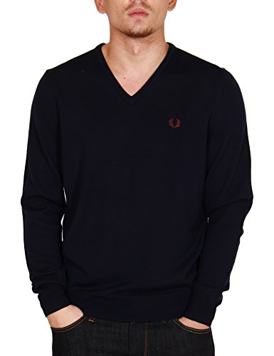 Fred Perry Herren FP Classic V Neck Sweater Pullover, Grau (Dark Carbon 395), XX-Large