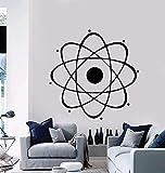 Decoración de arte de pared de vinilo para dormitorio de niños de escuela de física de química de ciencia nuclear