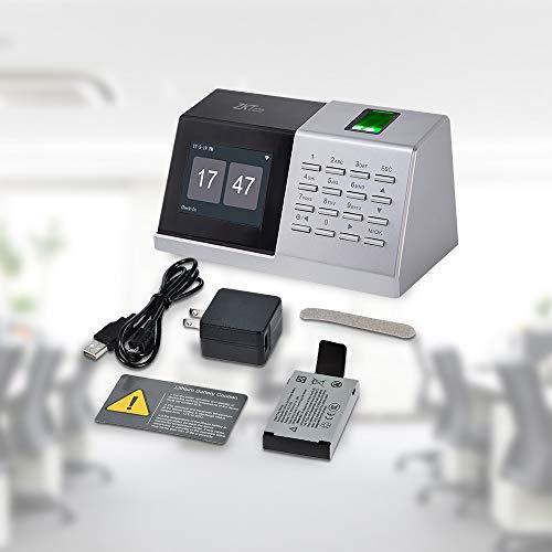 ZKTecoタイムレコーダー指紋認証タイムカード勤怠出退勤管理パスワードUSB経費削減小型集計機能スタンド機能日本語説明書D2-Black黒