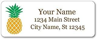 Personalized Return Address Labels - Vintage Pineapple Design - 120 Custom Gift Stickers