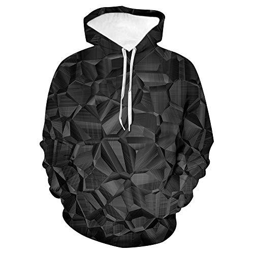 Kapuzenpullover Unisex 3D Druck Hoodies Mit Kängurutasche-Graues Salz-Jungen Und Mädchen Erwachsene Kinder Cool Und Ungewöhnliche Mode Straßentanz Weihnachten Sweatshirts-XXL