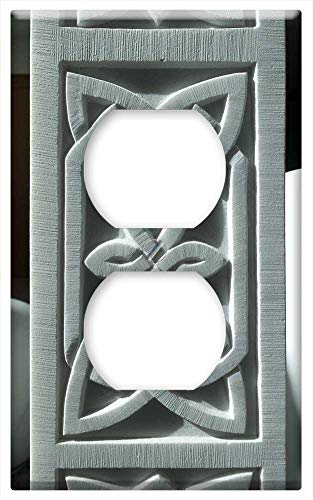 Switch Plate Outlet Cover - Pattern Celtic Marble Ornament Relief Sculpture