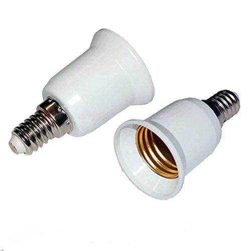 Portalampada con attacco da E14a E27,convertitore da SES a ES, adattatore per lampadina LED CFL, Lampholder Converter-2pc
