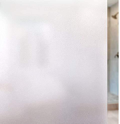 rabbitgoo Vinilo para Ventana Privacidad Pegatina Translúcida Adhesiva Decorativa del Vidrio Autoadhesiva con Electricida Estática Control de Calor y Anti UV 90x200CM