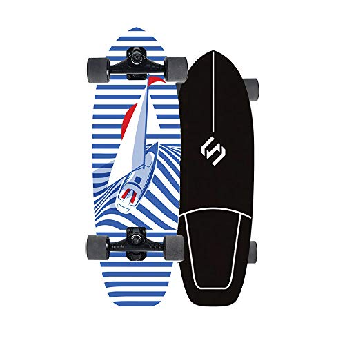 Land Surfskate Monopatín Skate Longboard Cruiser Carver Surfboard Scooter Freestyle 29 Pulgadas CX4 Crucero Completo Adolescentes Adulto Tabla De Surf De Carretera for Adolescentes Principiante,b