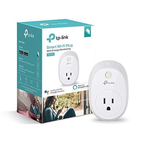 TP-LINK HS110 Enchufe Inteligente Blanco 3680 W - Enchufes Inteligentes (2,4-2,4 GHz, 802.11b,802.11g,Wi-Fi 4 (802.11n), Interior, Blanco, RoHS, EAC, CE, 3680 W)
