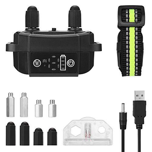 Ajcoflt Collar de Entrenamiento para Perros Pantalla LCD Collares de Entrenamiento de Choque electrónico Collar de Entrenamiento para Dejar de ladrar