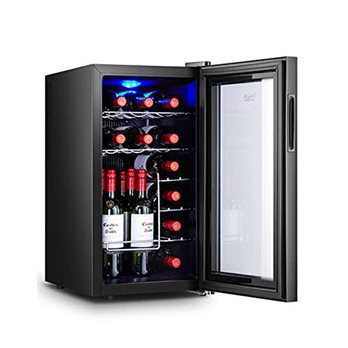 MIAOYO Independiente Vinoteca,16 Botellas Vinoteca,Funcionamiento Silencioso Refrigerador De Vino,Control Digital De La Temperatura Vinoteca,Negro,34.5x49x66.5cm
