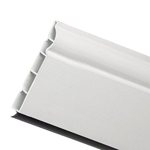 5m x 100mm (4') White Torus/Ogee Plastic Skirting Board...