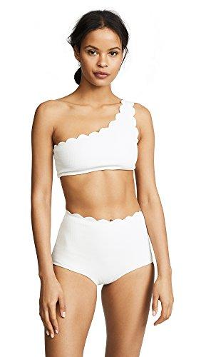 Marysia Swim Women's Santa Barbara Bikini Top, Coconut, Off White, White, X-Small