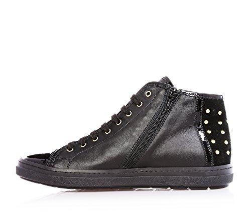 CESARE PACIOTTI - Sneaker nera stringata, in pelle, chiusura a zip, camoscio, Donna, ragazza, Bambina-39