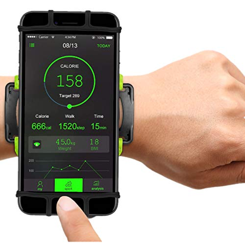 VUP Cell Phone Holder Wristband for iPhone Xs Max/XS/XR/X/6S/7/8 Plus, Galaxy S10/S10+/S10e/S9/S9+/S8 Note 9/8/J7, LG G6, Google Pixel 3 XL, 180 Rotatable Armband for 4.0~6.5 Mobile Phone