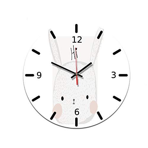 LUOYLYM DIY Uhr Wanduhr Acryl Uhr Dekorative Uhr Stumm Bewegung Spiegel Wohnzimmer Wanduhr Ctt-61 28CM