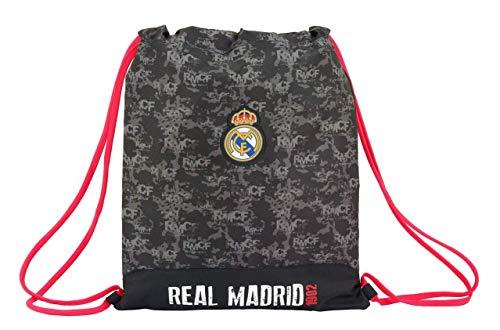 Safta Real Madrid Bolsa Cuerdas Gimnasio, 40 cm, Negro