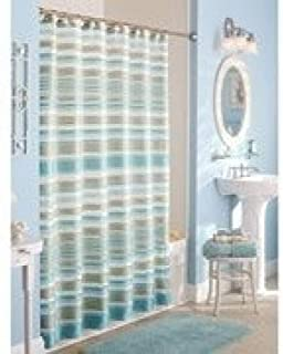Classic Stripe Fabric Shower Curtain