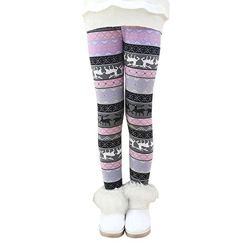 Hankyky Baby Kinder Fleece Hosen Mädchen Leggings Strumpfhosen Girls Trainingshose Herbst Winter Warm Pants(95-150cm/2-12 Jahre)