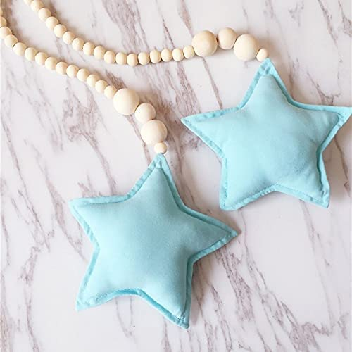 Homes Decor Nordic Import Double Star Max 83% OFF Kids Wooden Beads Cloud Ornament