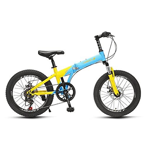 ZXQZ Bicicleta de Montaña, Bicicleta de Carretera Plegable de 20 Pulgadas, 6 Velocidades, para Estudiantes y Adolescentes (Color : Beige)